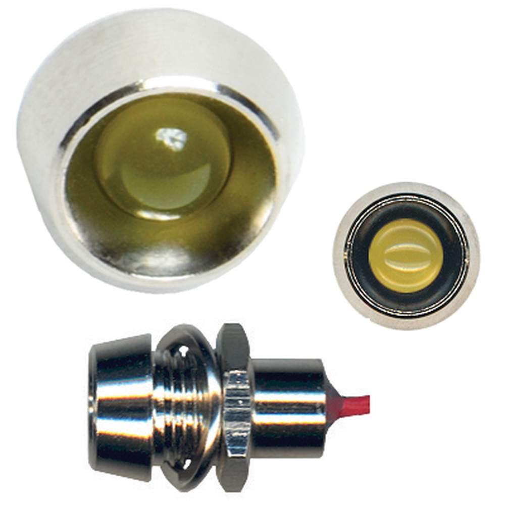 BA-40  Classic Style LED Indicator Light - AMBER (Bright)