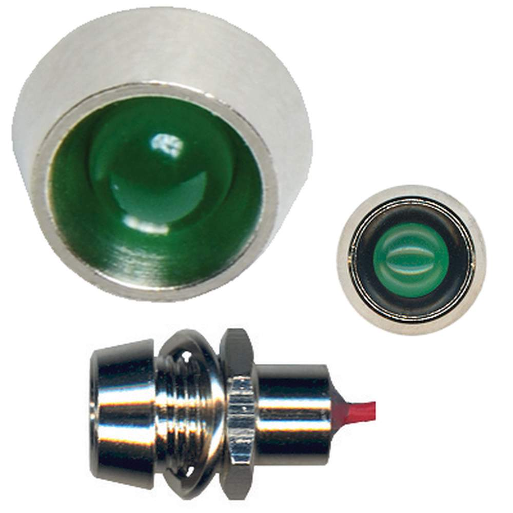 BG-40  Classic Style LED Indicator Light - GREEN (Bright)