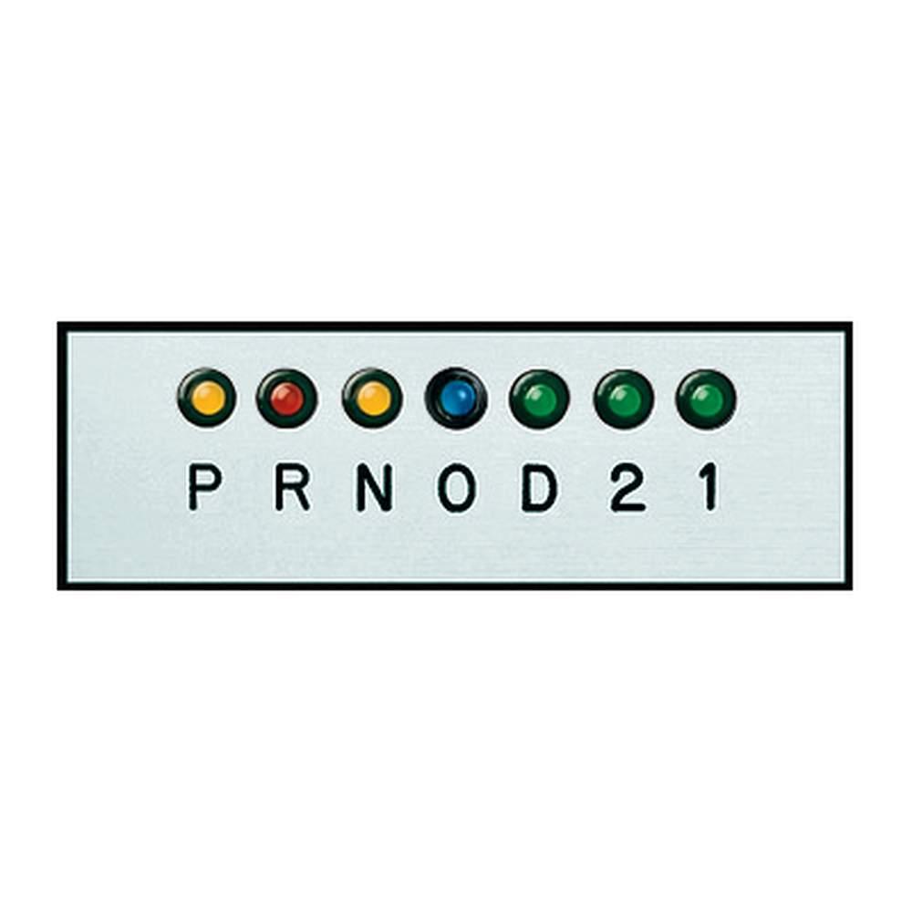 GP-12  Gear Shift Indicator  Horizontal Silver Plate (OD)