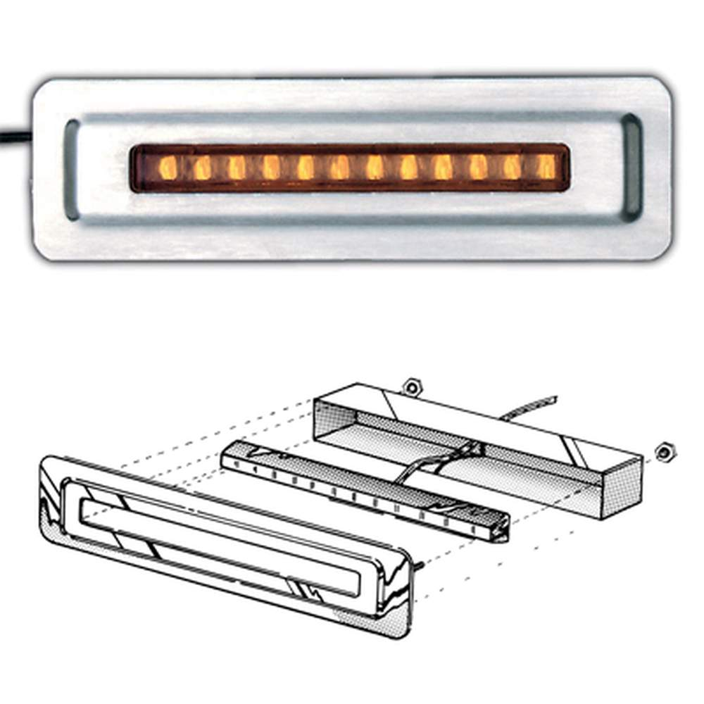 TD-1A  4  Single Amber  LED in Mounting Plate