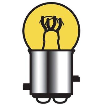 B-1007A  Cp 15/3 Bulb (--_)Amber