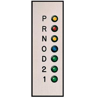 GP-10  Gear Shift Indicator  Vertical Silver Plate (OD)