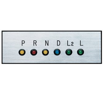 GP-11  Gear Shift Indicator Horizontal Silver Plate (STD)