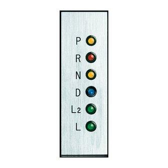 GP-9  Gear Shift Indicator Vertical Silver Plate (STD)