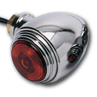 LC-62  Maxi Bullet - Chrome BRITE LITES - Red Lens