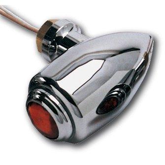 MC-62  Original Style - Chrome BRITE LITES - Red Lens