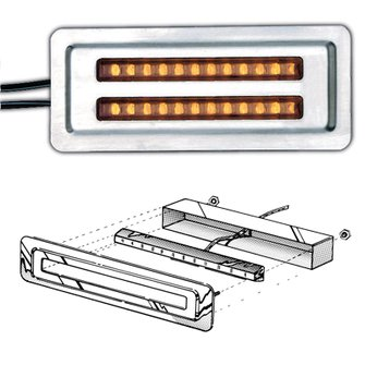 TD-2A  4  Dual Amber LEDs in Mounting Plate